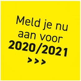 Meld je nu aan voor 2020 / 2021