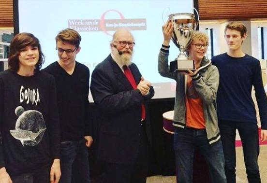 Gymnasiumleerlingen naar internationale finale 'Grote Ken-Je-Klassiekenquiz'